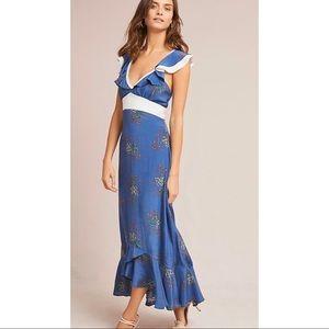 Anthropologie Larke Loretta Ruffled Petite Dress